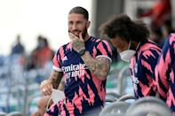 Real Madrid's Spanish defender Sergio Ramos was forced onto the sidelines for much of the 2020/21 season