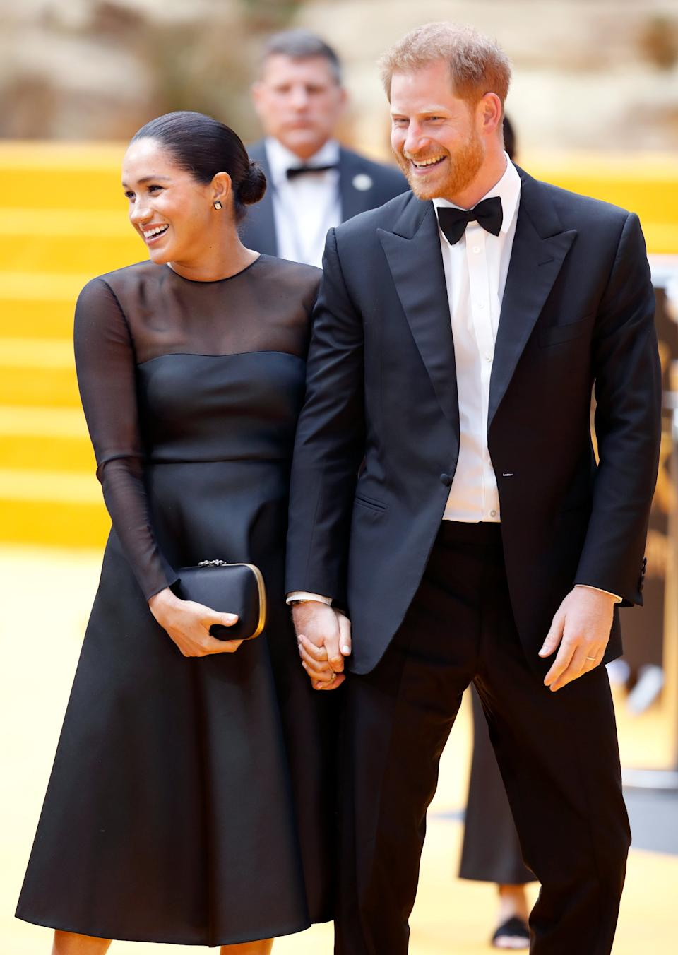 LONDON, UNITED KINGDOM - JULY 14: (EMBARGOED FOR PUBLICATION IN UK NEWSPAPERS UNTIL 24 HOURS AFTER CREATE DATE AND TIME) Meghan, Duchess of Sussex and Prince Harry, Duke of Sussex attend