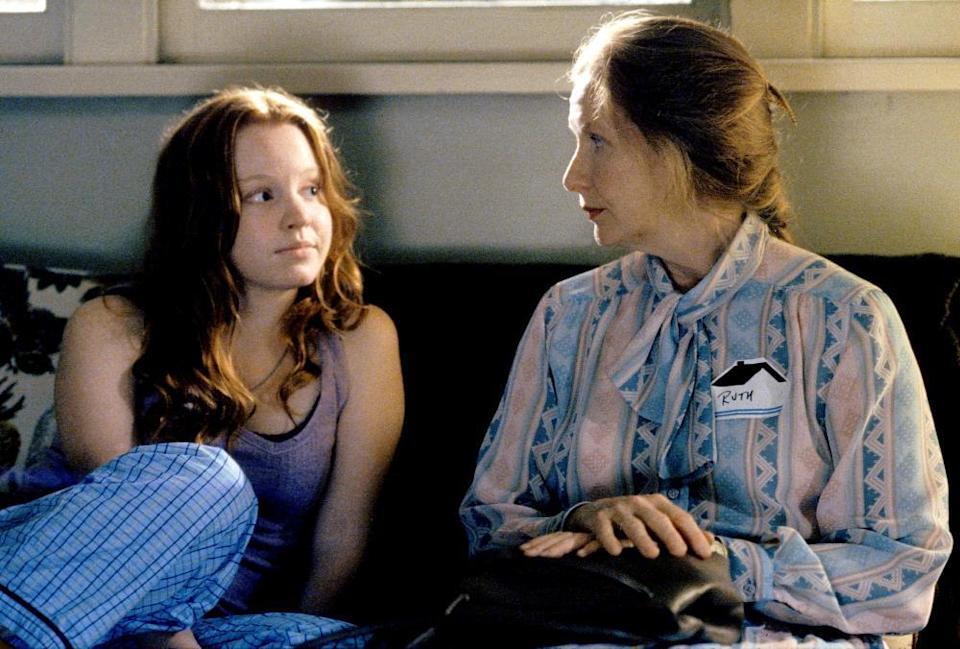 Lauren Ambrose, left, and Frances Conroy are shown in a scene from HBO's Six Feet Under
