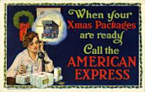 <p>Back in the days when Amazon was just a rainforest, sending packages was made easy by using the American Express shipping service. </p>