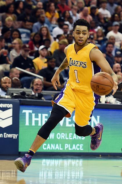 D'Angelo Russell is a key piece of the Lakers' future. (Getty Images)