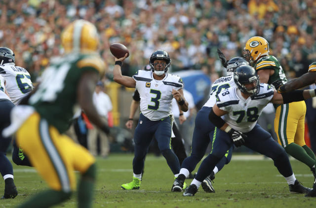 Russell Wilson struggled against the Packers in Week 1, and wasn't much better during a narrow home win over lowly San Francisco last Sunday. (Jeff Haynes/AP Images)
