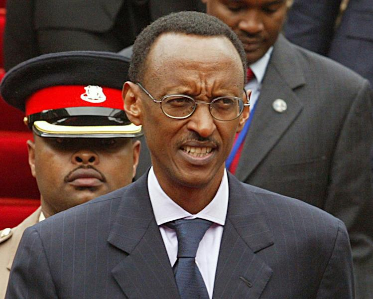 FILE - In this May 22, 2007 file photo, Rwandan president Paul Kagame during a conference in Nairobi, Kenya. Opposition leaders have accused Kagame of ordering the assassination of Rwanda's former spy chief Patrick Karegeya who was found dead, possibly strangled, in his room at a Johannesburg hotel Wednesday, Jan. 1, 2014, claiming the death follows a pattern of assassinations ordered by Kagame. Rwanda's government has vehemently denied such charges. (AP Photo/Sayyid Azim, File)