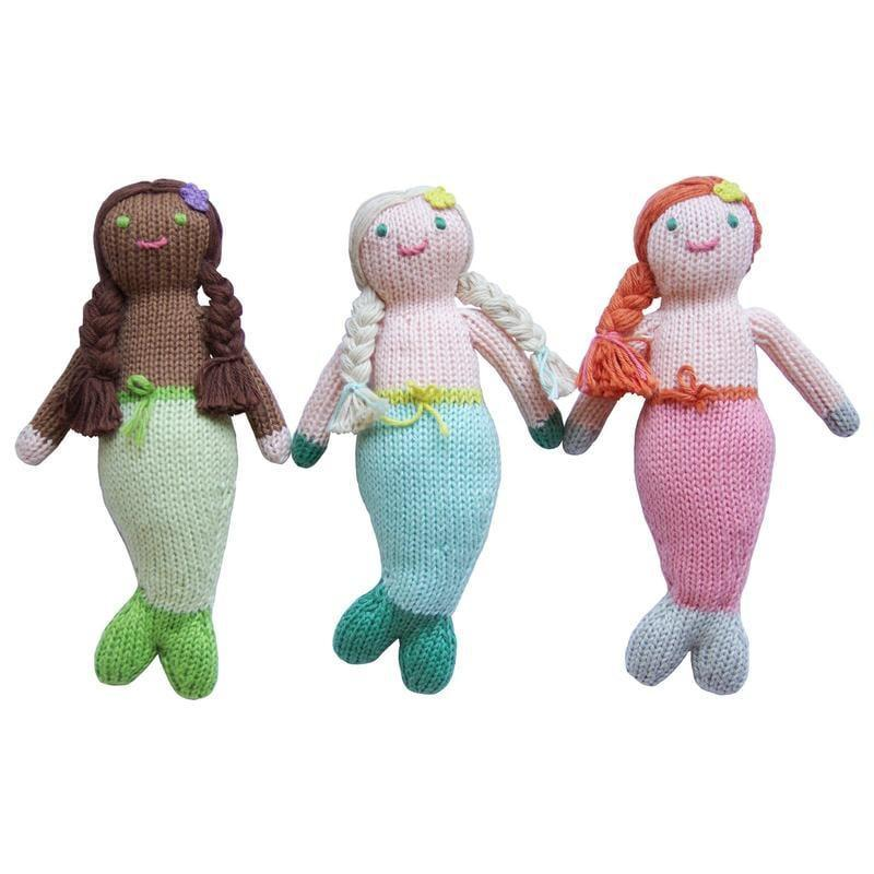 <p>These sweet <span>Mermaid Rattles</span> ($26) come in three styles, Symphony (left), Harmony (middle), and Melody (right).</p>