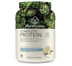 """<p><strong>PlantFusion</strong></p><p>amazon.com</p><p><strong>$39.99</strong></p><p><a href=""""https://www.amazon.com/dp/B0021FEMZG?tag=syn-yahoo-20&ascsubtag=%5Bartid%7C10055.g.35084321%5Bsrc%7Cyahoo-us"""" rel=""""nofollow noopener"""" target=""""_blank"""" data-ylk=""""slk:Shop Now"""" class=""""link rapid-noclick-resp"""">Shop Now</a></p><p>This certified vegan and non-GMO choice has 21 grams of protein from peas, artichokes, and algae. PlantFusion as a brand is committed to being<strong> free of dairy, soy, rice, eggs, nuts, fish, tree nuts, shellfish, artificial flavors and colors. </strong>Taste is subjective but overall the vanilla flavor was rated better than other brands and we found that it blended well. Just note that it has about 390mg sodium per scoop.</p>"""