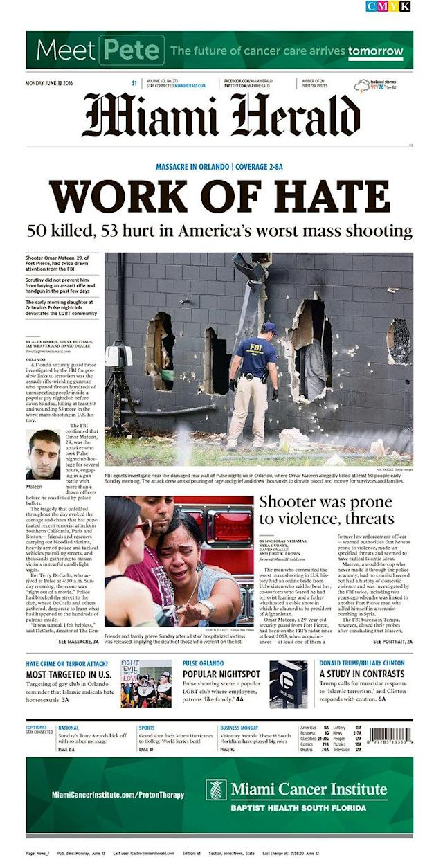 <p>The Miami Herald<br> Published in Miami, Fla. USA.(newseum.org) </p>