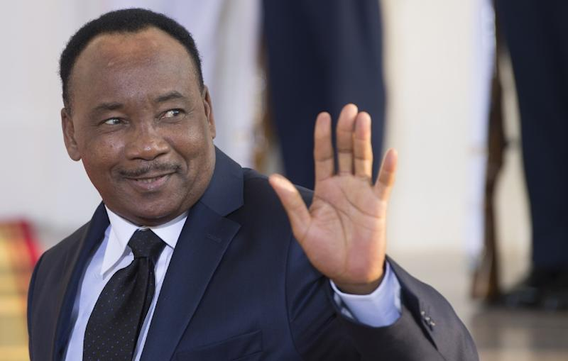 Niger President Issoufou Mahamadou, pictured on August 5, 2014, was elected in 2011 and is seeking another term (AFP Photo/Brendan Smialowski)