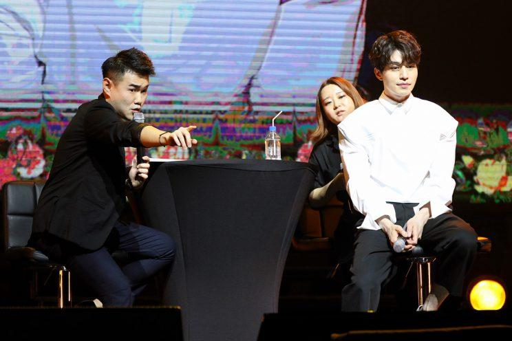 Lee Dong-wook at his Singapore fan-meet (Photo: IME Singapore)