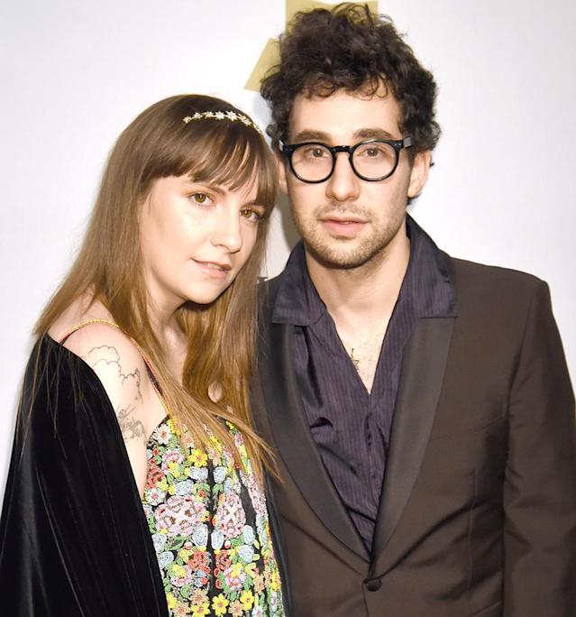 Lena Dunham and Jack Antonoff at a pre-Grammy party on Feb. 11. (Photo: Jeff Kravitz/FilmMagic)