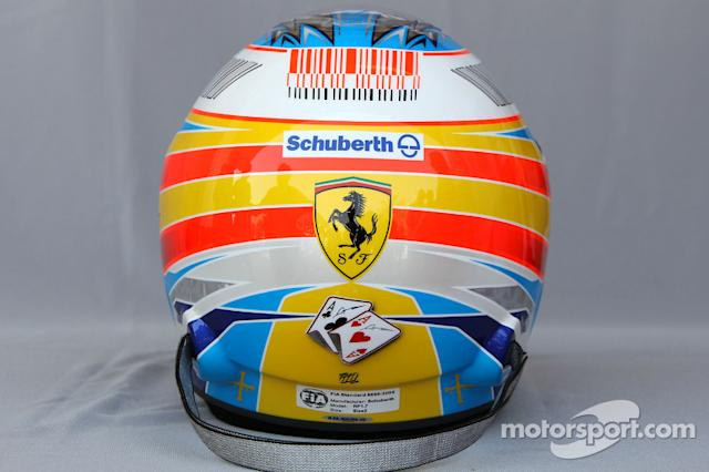 "Casco de Fernando Alonso en 2010 <span class=""copyright"">XPB Images</span>"