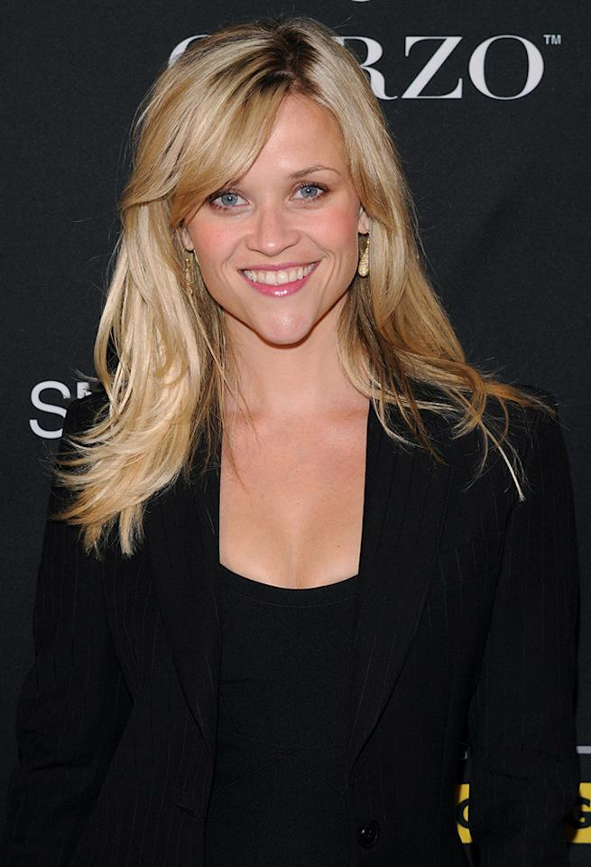 """<a href=""""http://movies.yahoo.com/movie/contributor/1800018812"""">Reese Witherspoon</a> arrives at the benefit for The LiveStrong Foundation held at Smashbox West Hollywood on September 23, 2010 in West Hollywood, California."""