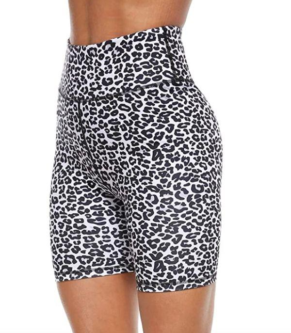 "<a href=""https://amzn.to/3gKoc5z"" rel=""nofollow noopener"" target=""_blank"" data-ylk=""slk:These high-waisted bike shorts"" class=""link rapid-noclick-resp"">These high-waisted bike shorts</a> include two front and back pockets and are available in <a href=""https://amzn.to/3gKoc5z"" rel=""nofollow noopener"" target=""_blank"" data-ylk=""slk:five wild prints"" class=""link rapid-noclick-resp"">five wild prints</a>.<br><strong>Sizes</strong>: XS to XXL<br><strong>Rating</strong>: 4.8-star rating<br><strong>Reviews</strong>: more than 2,000 <br><br><a href=""https://amzn.to/3gKoc5z"" rel=""nofollow noopener"" target=""_blank"" data-ylk=""slk:Find them for $22 on Amazon"" class=""link rapid-noclick-resp"">Find them for $22 on Amazon</a>."