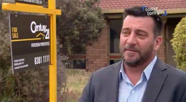 Real estate agent Simon Paterson accepted a $280,000 bid on her behalf, but the sale was subject to a building and pest inspection. Picture: Today Tonight