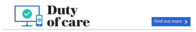 Duty of Care banner ad