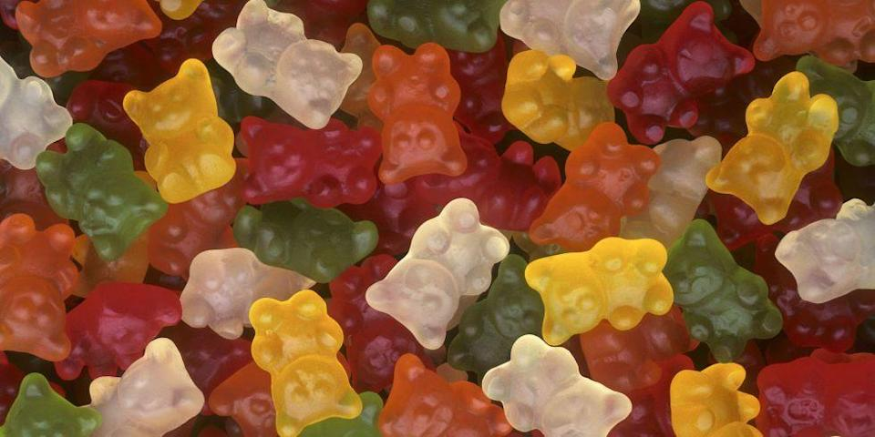 """<p>Don't judge a bear by its color! Haribo's green <a href=""""/food/a49707/gummy-bears-facts/"""" data-ylk=""""slk:gummy bears"""" class=""""link rapid-noclick-resp"""">gummy bears</a> are actually strawberry flavored (we were convinced they'd be apple), and the white ones are pineapple.</p>"""