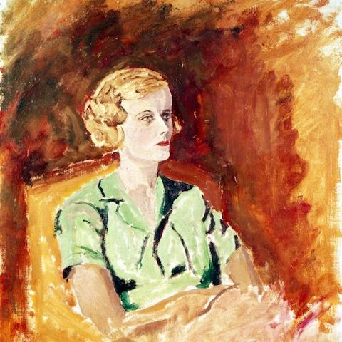 One of the portraits painted by Churchill of Lady Castlerosse - Credit: Channel 4