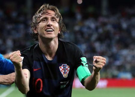 Soccer Football - World Cup - Group D - Argentina vs Croatia - Nizhny Novgorod Stadium, Nizhny Novgorod, Russia - June 21, 2018 Croatia's Luka Modric celebrates scoring their second goal REUTERS/Ivan Alvarado
