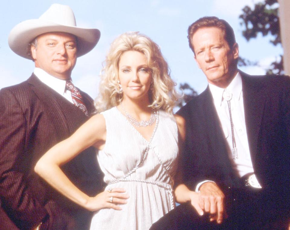 """<p><b>Aired:</b> February 12, 1995 on ABC<br><b>Stars:</b> Heather Locklear, Peter Strauss, Dennis Farina, and Dean Norris as a reporter<br><br><b>Ripped from the headlines about:</b> Priscilla Davis, a woman from """"the wrong side of the tracks"""" who married wealthy Texas oilman T. Cullen Davis. When their marriage sours, Davis doesn't want to share his fortune with his ex, and he is accused of murdering Priscilla's daughter and a male friend of Priscilla's. Davis, who was then the wealthiest man to have stood trial for murder in the United States, was acquitted thanks to high-priced Houston lawyer """"Racehorse"""" Haynes. Davis eventually declared bankruptcy and became a born-again Christian. <br><br><i>(Credit: Everett Collection)</i> </p>"""