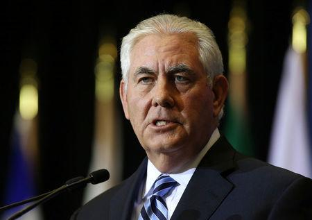 U.S. Secretary of State Rex Tillerson speaks at a news conference during the Foreign Ministers' Meeting on Security and Stability on the Korean Peninsula in Vancouver, British Columbia
