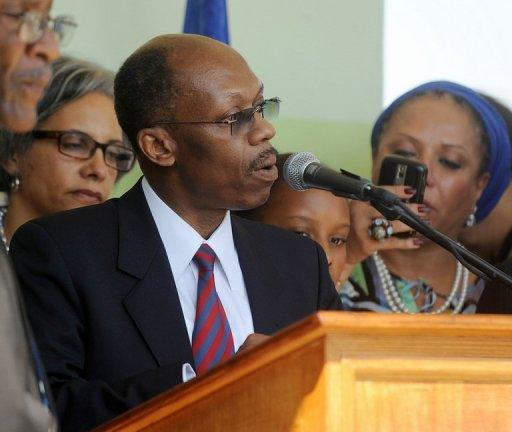 Haitian ex-president Jean-Bertrand Aristide, pictured here on March 18, 2011