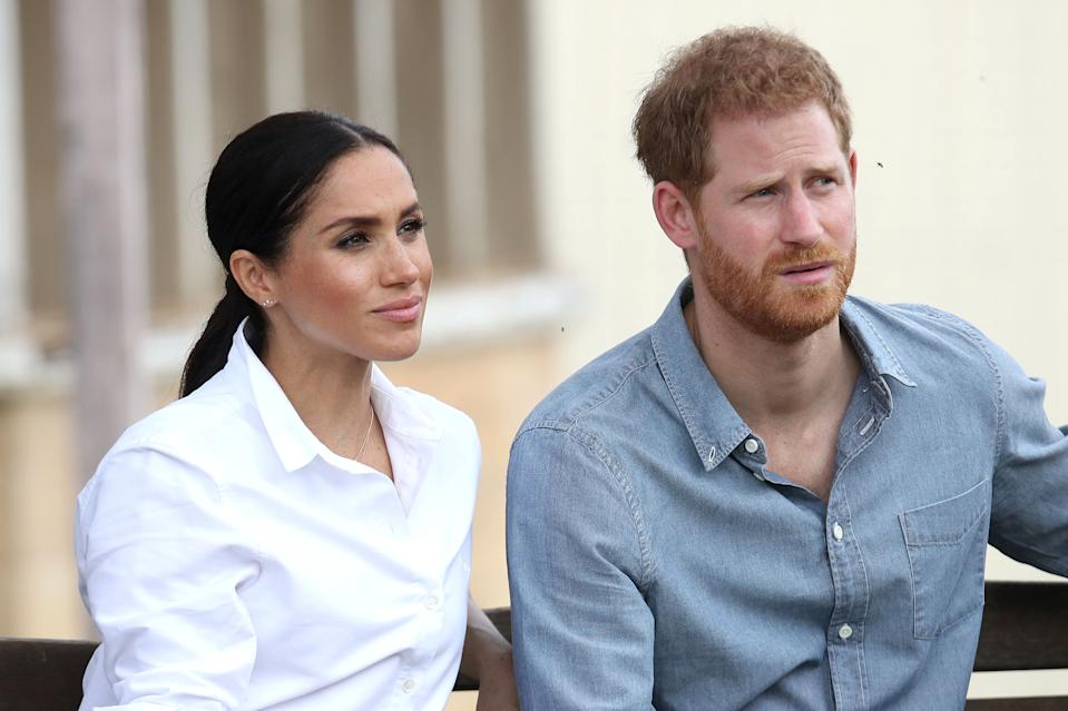 Image of Harry Meghan looking upset as Collins names 'Megxit' a top 10 word of 2020