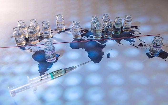 'We are joining forces with governments, health officials, and vaccine manufacturers from around the world in a Summit for Vaccine Internationalism' (Getty Images/iStockphoto)