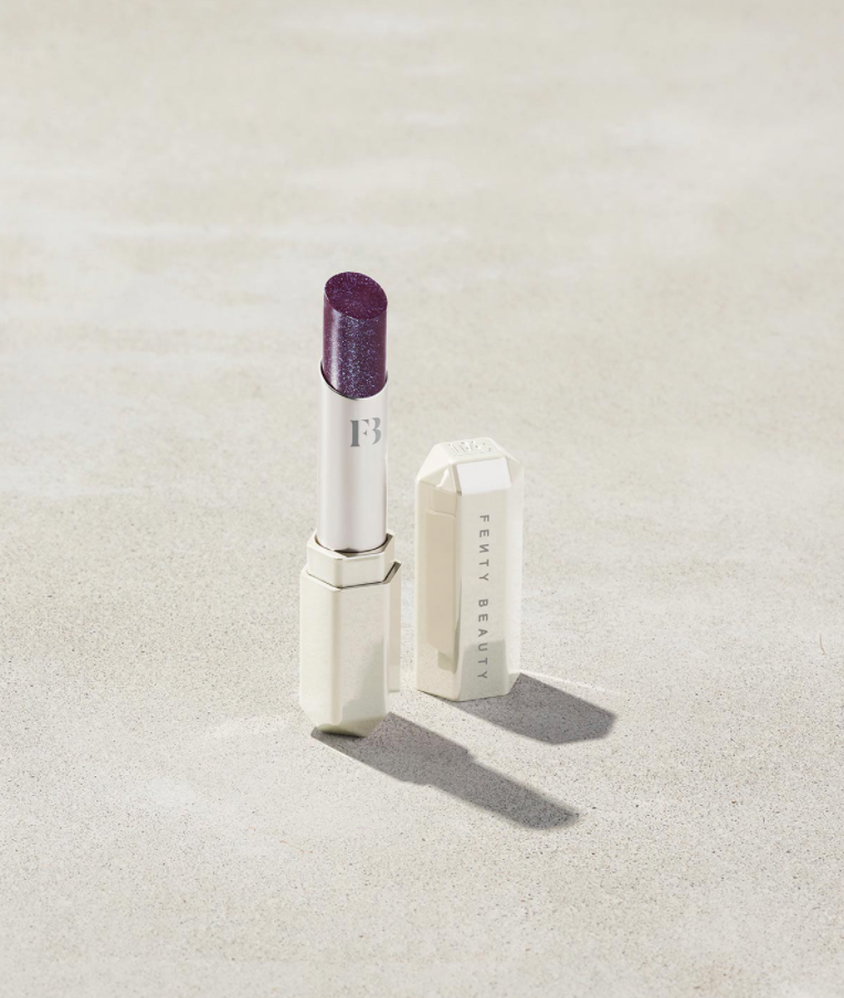 Slip Shine Sheer Shiny Lipstick in Vamps Who Brunch. Image via Fenty Beauty.