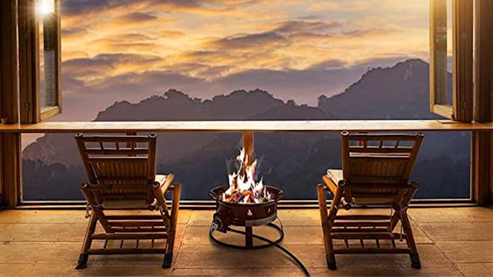 The compact size of this fire pit is perfect for smaller spaces.
