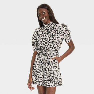 <p>This <span>Who What Wear Print Puff Elbow Sleeve Ruffle Detail Top</span> ($25) will get attention wherever you go.</p>