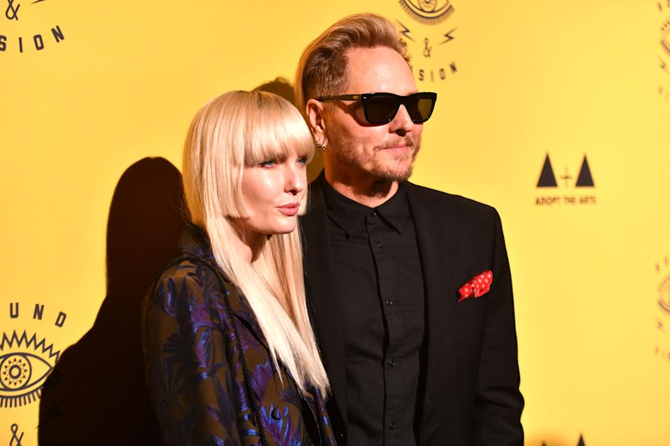 Ace Harper and Matt Sorum attend the 7th Annual Adopt the Arts Benefit Gala at The Wiltern on March 07, 2019 in Los Angeles, California. (Photo by Scott Dudelson/Getty Images)