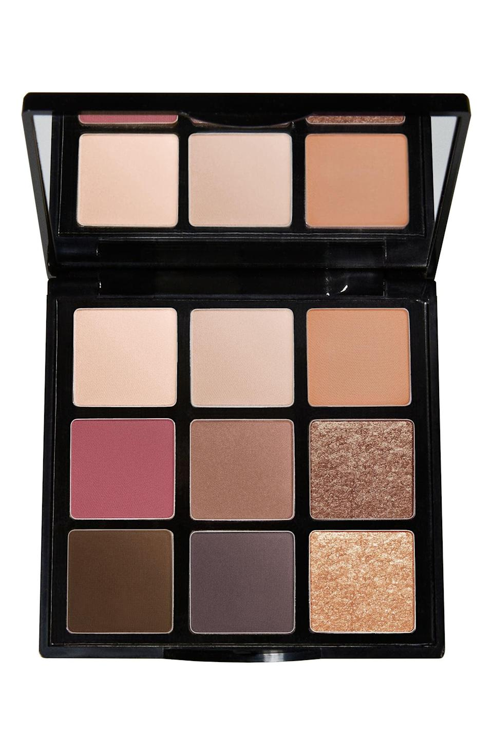 <p>You can't go wrong with the <span>Trish McEvoy Light and Lift Eyeshadow Palette</span> ($68). It's got a classic fall colorway with browns and nudes, jewel tones, and of course, a few shimmers. </p>