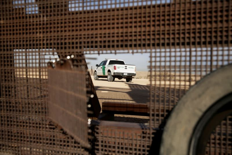 FILE PHOTO: A vehicle of U.S. Border Patrol is seen near the border fence in Sunland Park, New Mexico, U.S., as pictured from the Mexican side of the border in Ciudad Juarez