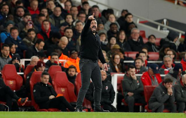 Soccer Football - Europa League Round of 16 Second Leg - Arsenal vs AC Milan - Emirates Stadium, London, Britain - March 15, 2018 AC Milan coach Gennaro Gattuso Action Images via Reuters/John Sibley