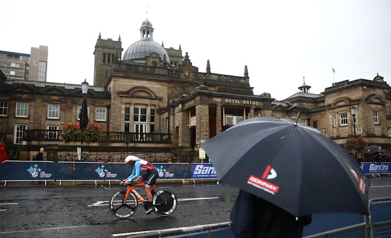 Canada's Gillian Ellsay during the Elite Women Individual Time Trial, Ripon to Harrogate. (Photo by Tim Goode/PA Images via Getty Images)