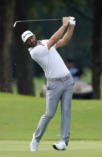 Johnson turns rough day into 1-shot lead at East Lake