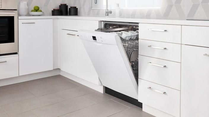This affordable Bosch dishwasher is on par with the brand's other models.