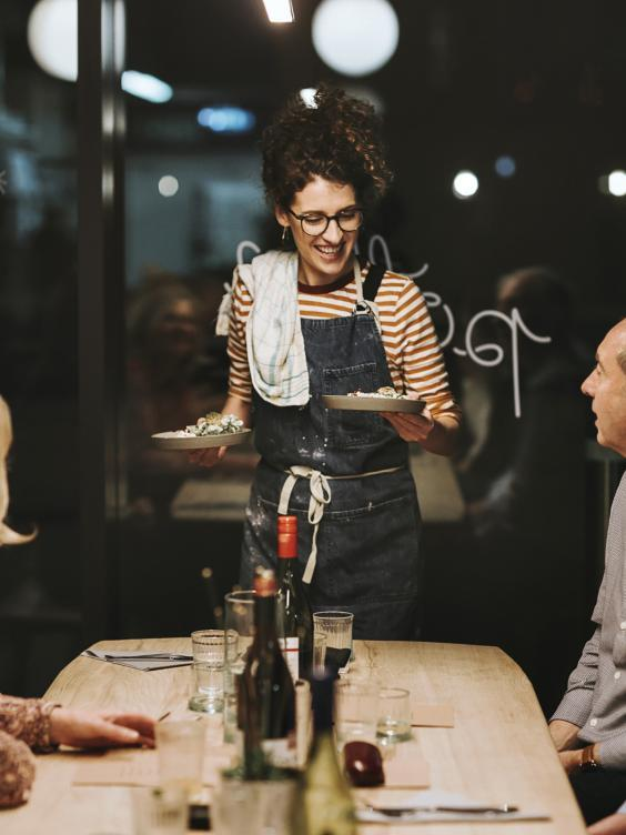 Pippa ran supper clubs like this one in Manchester before appearing on 'Britain's Best Home Cook' (Giulia Zonza Photography)