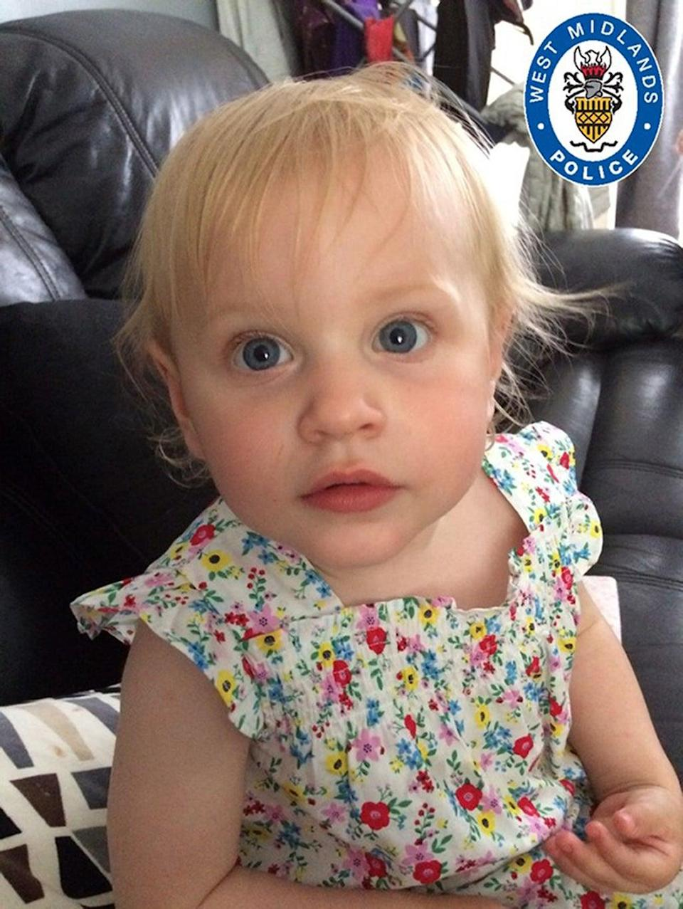 Lilly Hanrahan, 21 months old, died after suffering horrific injuries at the hands of babysitter Sean Sadler in 2017 (PA) (PA Media)