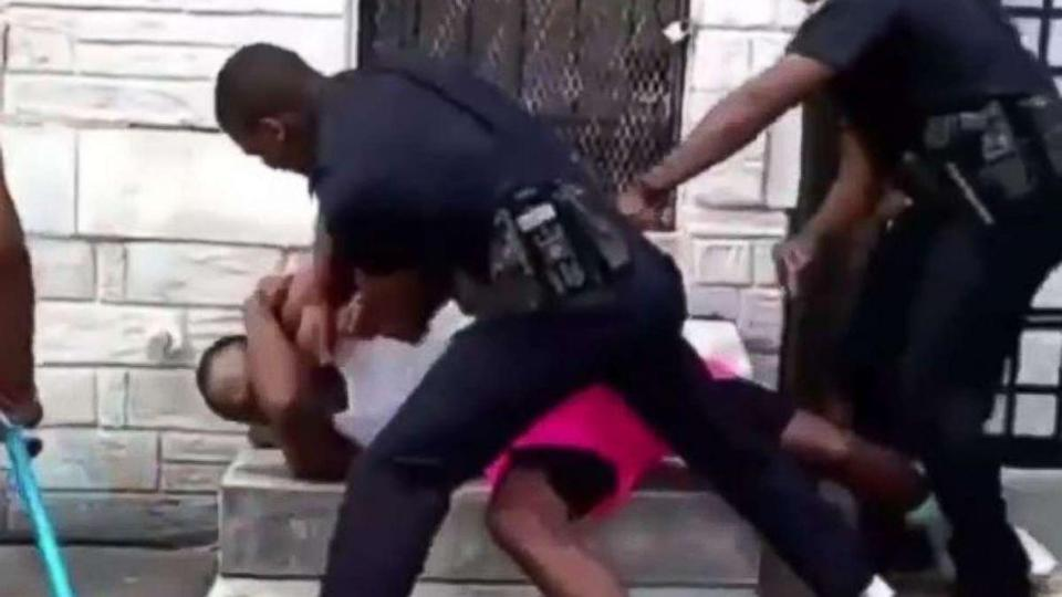 Ex-Baltimore police officer filmed beating man pleads not guilty (ABC News)