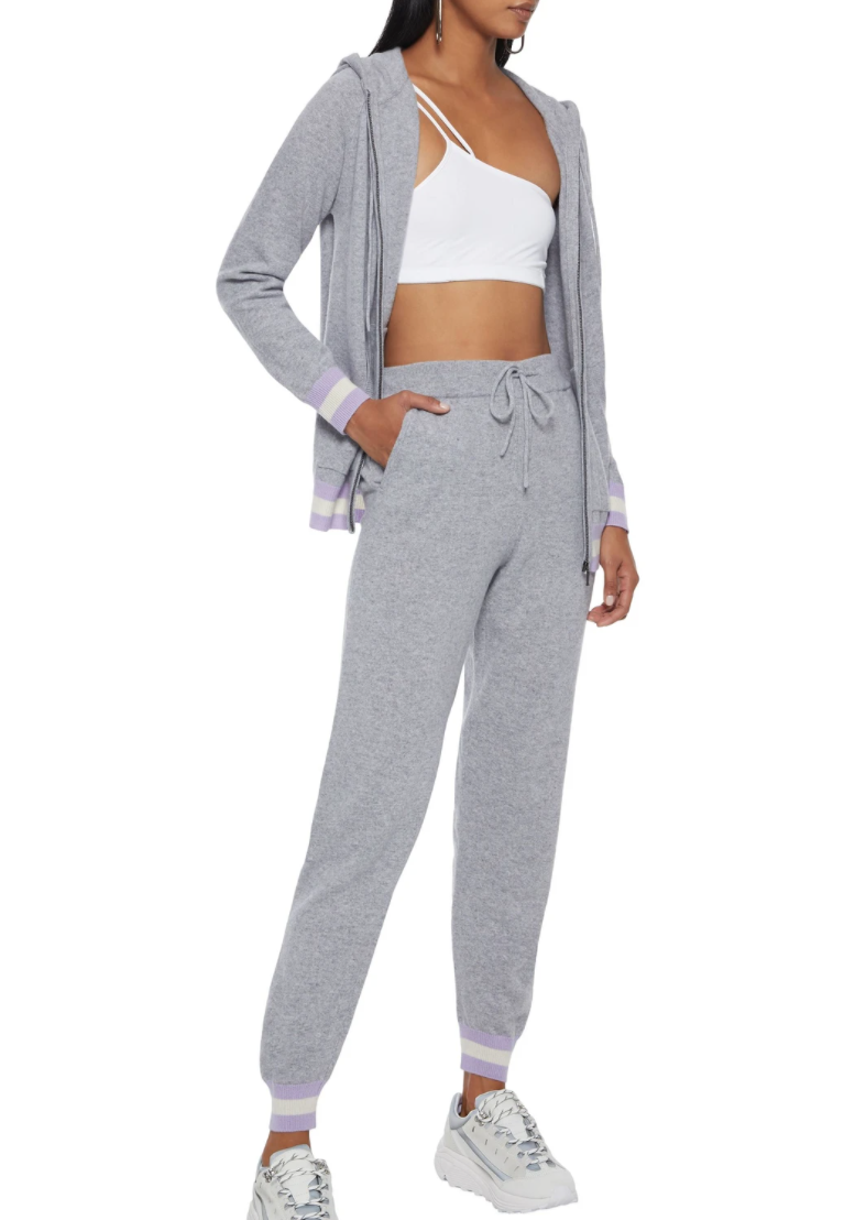 "<h2>Chinti and Parker Cashmere Blend Track Pants</h2><br>A color-blocked cuff and a drawstring waist give these heather-hued cashmere joggers a sporty vibe.<br><br><strong>Chinti and Parker</strong> Cashmere Blend Track Pants, $, available at <a href=""https://go.skimresources.com/?id=30283X879131&url=https%3A%2F%2Fwww.theoutnet.com%2Fen-us%2Fshop%2Fproduct%2Fchinti-and-parker%2Factivewear%2Ftrack-pants%2Fstriped-wool-and-cashmere-blend-track-pants%2F560971904017246"" rel=""nofollow noopener"" target=""_blank"" data-ylk=""slk:The Outnet"" class=""link rapid-noclick-resp"">The Outnet</a>"