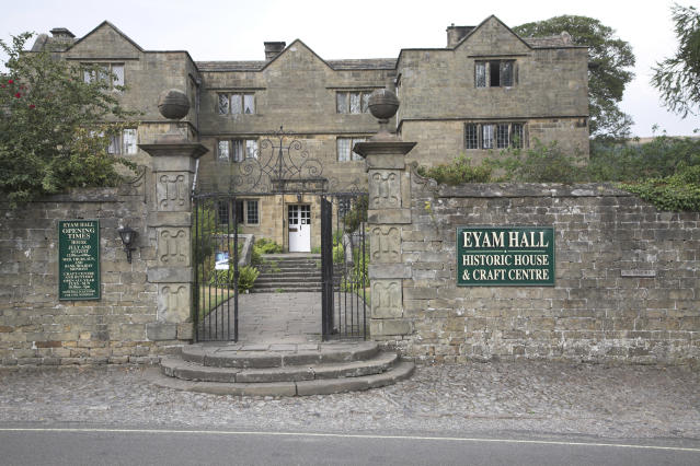 Eyam Hall, Derbyshire, Inglaterra. Foto: Geography Photos/Universal Images Group via Getty Images.