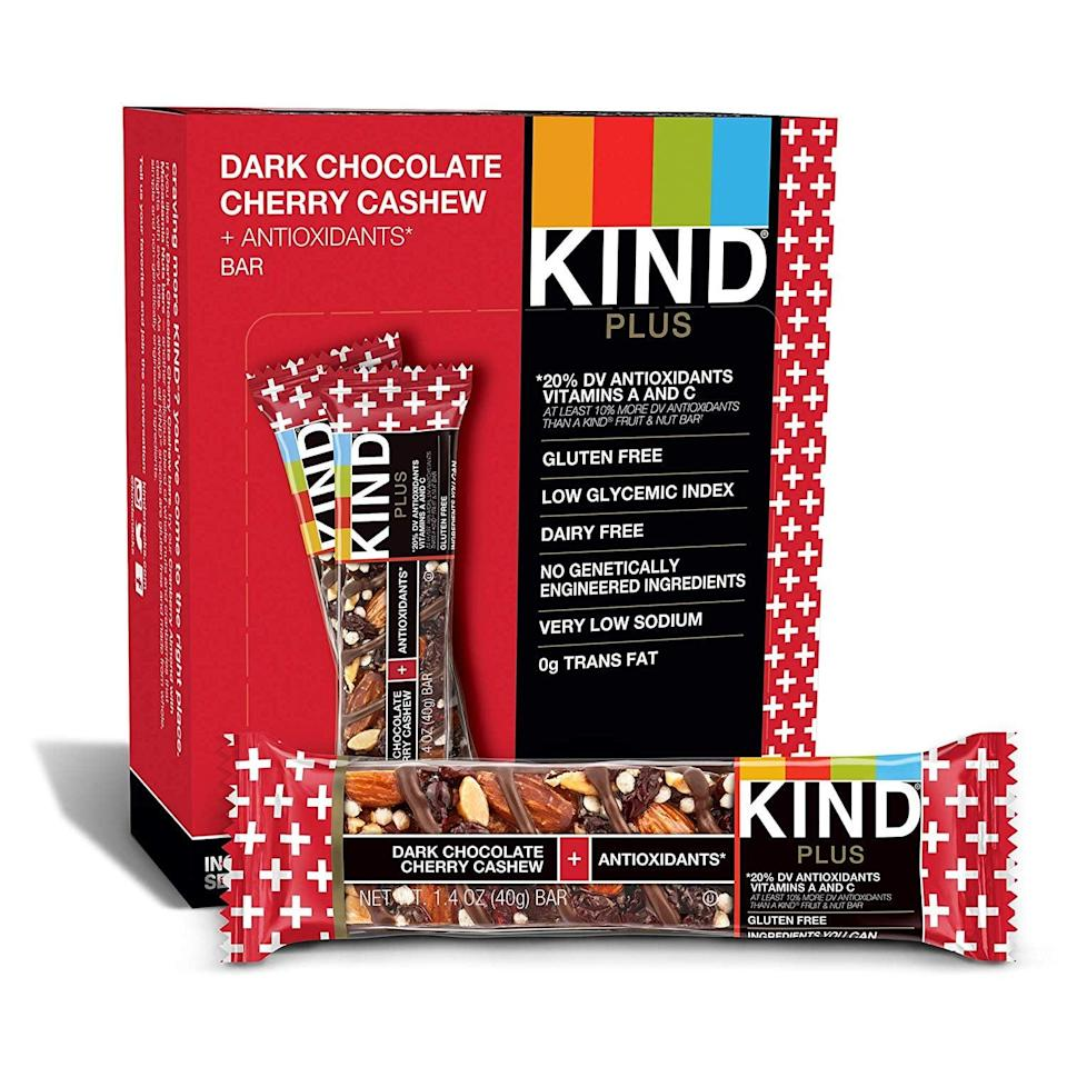 <p><span>KIND Bars</span> ($11) are both gluten and dairy free, so they're perfect for many of us who have dietary restrictions.</p>