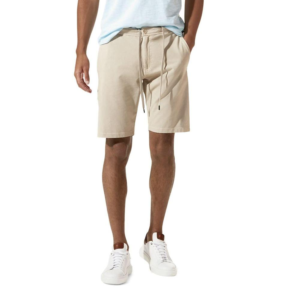 """<p><strong>Good Man Brand</strong></p><p>nordstrom.com</p><p><strong>$98.00</strong></p><p><a href=""""https://go.redirectingat.com?id=74968X1596630&url=https%3A%2F%2Fwww.nordstrom.com%2Fs%2Fgood-man-brand-flex-pro-jersey-tulum-trunks%2F5707543&sref=https%3A%2F%2Fwww.esquire.com%2Flifestyle%2Fg36186166%2Fanniversary-gifts-for-him-husband%2F"""" rel=""""nofollow noopener"""" target=""""_blank"""" data-ylk=""""slk:Buy"""" class=""""link rapid-noclick-resp"""">Buy</a></p><p>If you took his favorite sweats and crossed them with his go-to summertime chino shorts, you'd get these: cotton shorts that feel relaxed but look dressed-up. Russell Wilson's Good Man Brand knows comfort is important.</p>"""