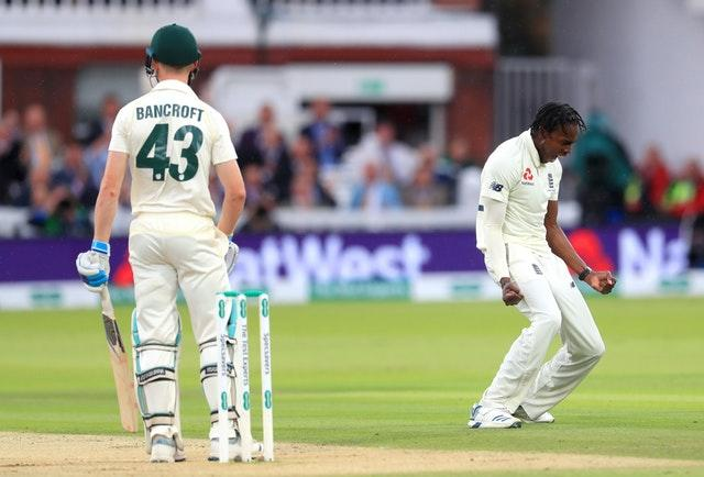Jofra Archer (right) dismissed Bancroft (Mike Egerton/PA)