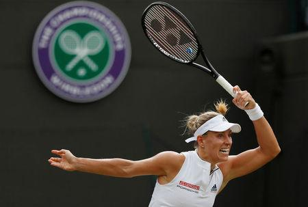 Kerber holds nerve on seventh match point to reach Wimbledon semi-finals