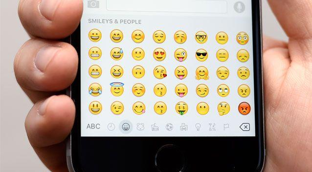 Emojis are used by millions of Australians every day. Source: AAP
