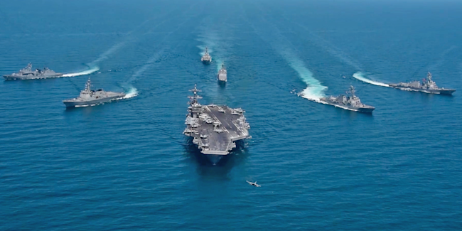 uss carl vinson north korea