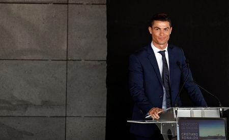 Real Madrid forward Cristiano Ronaldo attends the ceremony to rename Funchal airport as Cristiano Ronaldo Airport in Funchal, Portugal March 29, 2017. REUTERS/Rafael Marchante