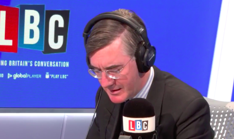 A doctor called Jacob Rees-Mogg's radio show to challenge him (Picture: LBC)