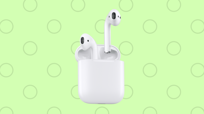 Save 30 bucks on the elegant standard Apple AirPods. (Photo: Apple)